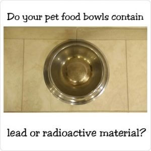 Stainless steel dog food bowls