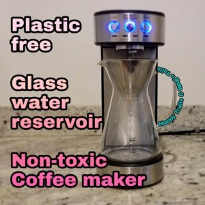 Non toxic Coffee maker without a plastic water tank reservoir