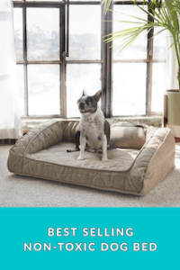 Non-Toxic Dog Bed with Bolster and a 3 year warranty