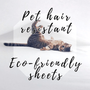 Cat hair resistant sheets